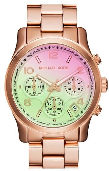 MICHAEL Michael Kors Michael Kors 'Pink Catwalk' Chronograph Watch, 39mm