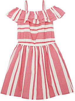 John Lewis & Partners Girls' Striped Dress, Pink