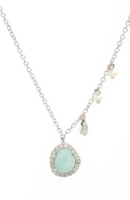 Women's Meirat Mini Stone Diamond Pendant Necklace $498 thestylecure.com