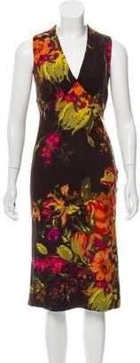 Paul & Joe Floral Wool Midi Dress