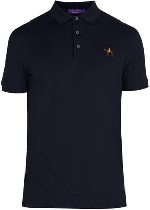 Ralph Lauren Purple Label Logo Embroidered Cotton Polo Shirt - Mens - Navy