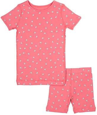 Skylar Luna Heart-Print Organic Cotton Pajama Set