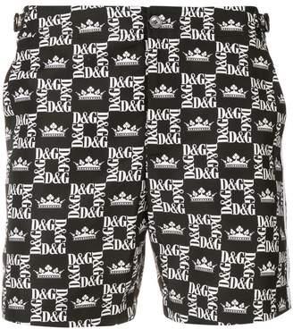 Dolce & Gabbana black logo swimming shorts