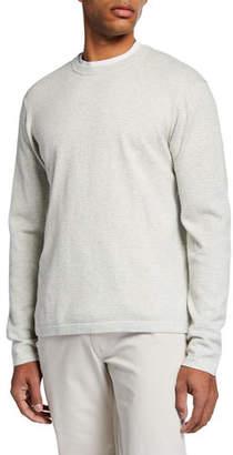 Neiman Marcus Men's Mini-Cable Cotton Crewneck Sweater