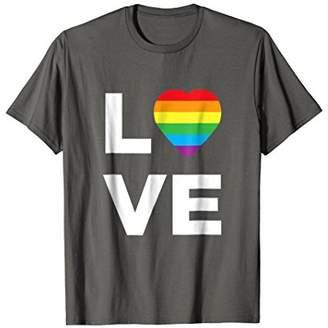 Love Rainbow T Shirt LGBT LGBTQ Tee Gay Lesbian Pride Tshirt