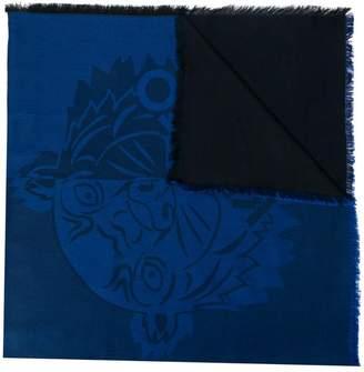 Kenzo embossed logo scarf