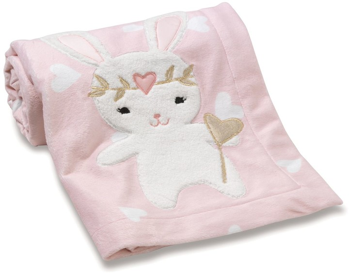 Confetti Bunny & Hearts Plush Blanket