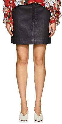 Robert Rodriguez Women's Leather Miniskirt