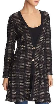 Misook Plaid Textured Cardigan