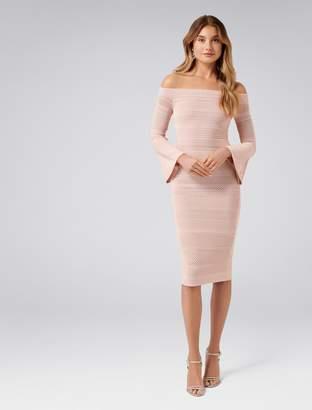Forever New Stassi Pointelle Flare Sleeve Dress - Pink - 4