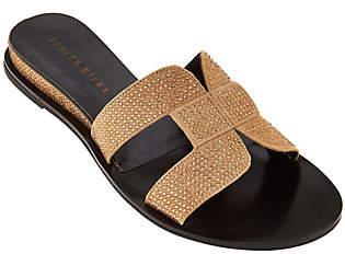 Judith Ripka Embellished Slide Sandals -Sloane
