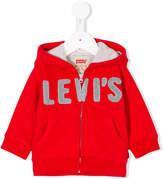 Levi's (リーバイス) - Levi's Kids ロゴ刺繍 ジップアップパーカー