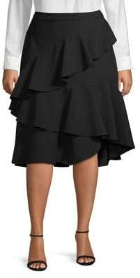 Vince Camuto Plus Plus Ruffle Skirt