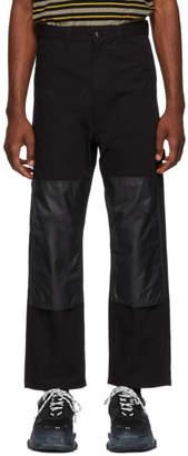 Junya Watanabe Black Nylon Rip Trousers