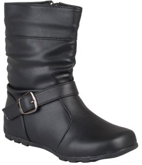 Brinley Co. Girls' Slouchy Accent Mid-calf Boots