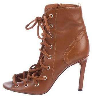Sarah Jessica Parker Leather Lace-Up Boots