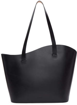 Building Block Black Large Wave Tote