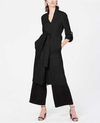 INC International Concepts I.n.c. Belted Draped Trench Coat