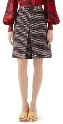 Gucci Sequin Tweed Miniskirt