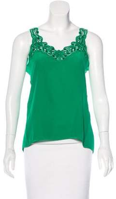 Vdp Collection Embellished Silk Top