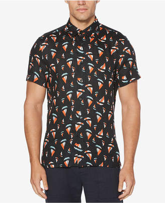 Perry Ellis Men's Regular-Fit Boat-Print Linen Shirt