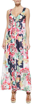 Johnny Was Silk Button Front Dress $318 thestylecure.com