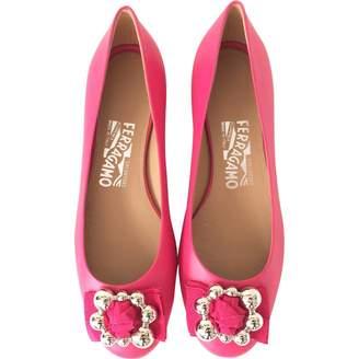 Salvatore Ferragamo Pink Leather Ballet flats