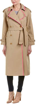 Burberry Tape Detail Gabardine Trench Coat