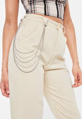 Missguided Silver Look Belt Chain