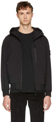 Stone Island Black Light Hooded Overcoat