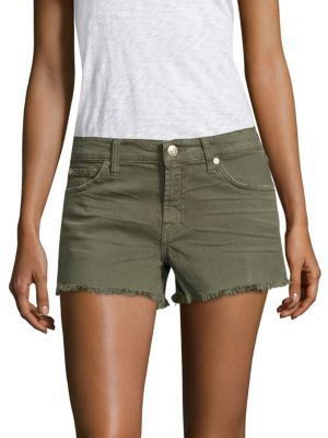 7 For All Mankind Cut-Off Denim Shorts $149 thestylecure.com