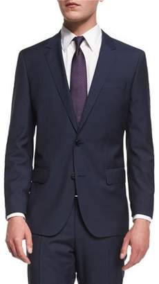 BOSS Huge Genius Slim-Fit Basic Suit, Navy $995 thestylecure.com
