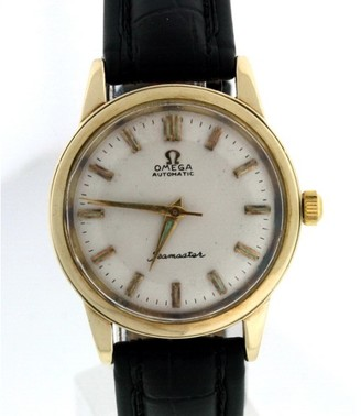 Omega Seamaster 14K Yellow Gold 34mm Vintage Mens Watch $2,975 thestylecure.com