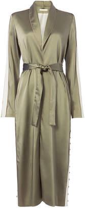 Jonathan Simkhai Varsity-Striped Robe