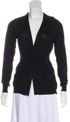 Akris Wool Knit Cardigan Black Wool Knit Cardigan