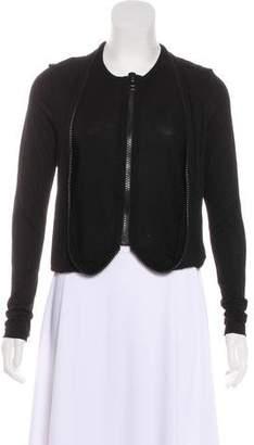 Givenchy Draped Zip-Up Cardigan