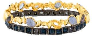 Alexis Bittar Labradorite & Crystal Bangle