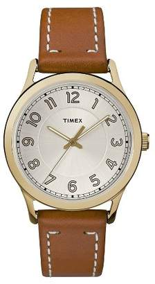 Timex Women's Timex® Watch with Leather Strap - Gold/Tan $49.99 thestylecure.com