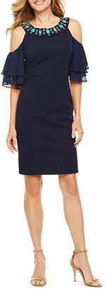 Melrose Cold Shoulder Short Sleeve Sheath Dress