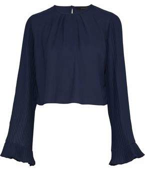 Walter W118 By Baker Valina Pleated Crepe De Chine Blouse