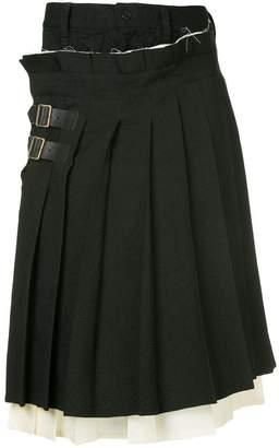 Facetasm x Woolmark kilt wrap shorts