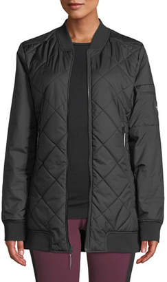 The North Face Jester Reversible Quilted Zip-Front Bomber Jacket