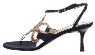 aacc5b476cc858 Pre-Owned at TheRealReal. Jimmy Choo Embellished Thong Sandals
