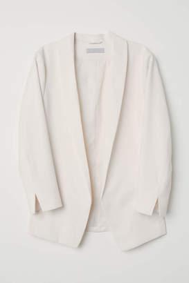 H&M Shawl-collar Jacket - Dark blue - Women