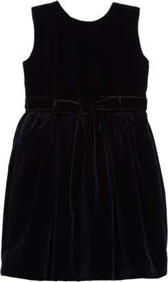 Oscar de la Renta Belted Velvet Dress