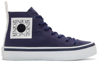 76dc9bd04ac Kenzo Blue Square Logo K-Street High-Top Sneakers