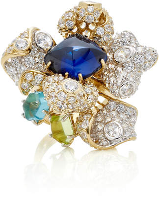 Anabela Chan M'O Exclusive Sapphire Blossom Ring