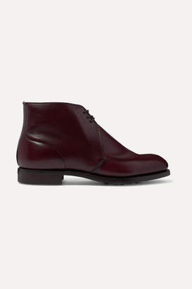 James Purdey & Sons - Polished-leather Ankle Boots - Burgundy