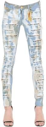 Destroyed Acid Washed Denim Jeans