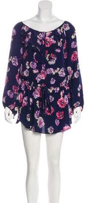 Rebecca Taylor Silk Floral Mini Dress